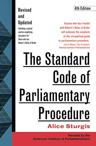 Compare Textbook Prices for The Standard Code of Parliamentary Procedure 4th Edition ISBN 9780071365130 by Sturgis, Alice