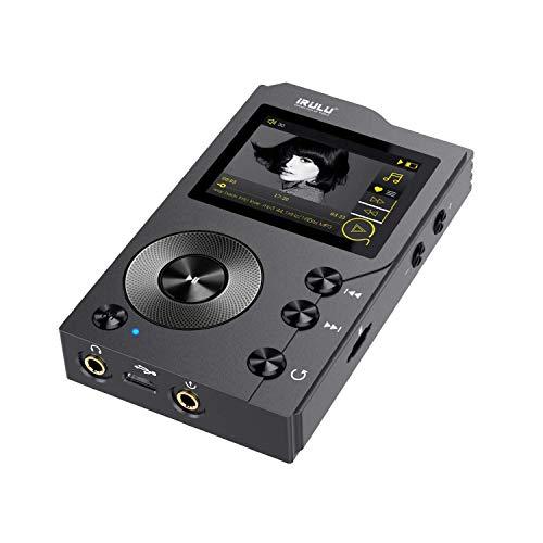 lettore MP3 iRULU F20 Bluetooth 4.0 HiFi; Lossless DSD High-Res Digital Audio Player 2 '' TFT Display Lettore musicale MP3 ad alta risoluzione con scheda microsd da 16 GB, supporta fino a 256 GB
