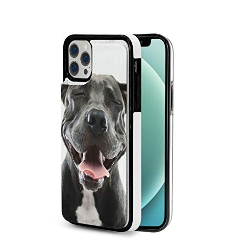 KAIXIN Shiba Inu Hunde-Liebhaber - Funda para iPhone 12 (piel sintética, cierre magnético, tapa blanda), color negro