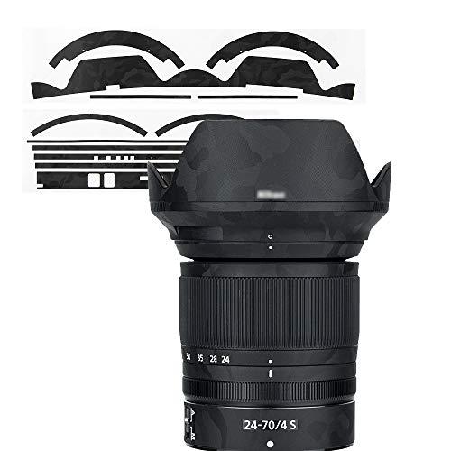 Schutzfolie, Kratzfest, für Nikon Nikkor Z 24-70 mm f/4 S Objektiv – 3M-Aufkleber, Schutzfolie, Body Shield – Camouflage Shadow Black