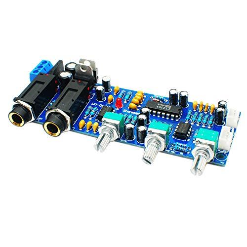 SODIAL Pt2399 Ne5532 Tablero Karaoke Tablero Amplificador de MicróFono Preamplificador ReverberacióN Eco Sonido
