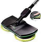 Super Maid 2018 Mocio elettrico senza fili, con movimento rotante, ricaricabile, per pulire moquette...