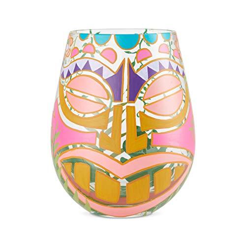 Lolita, vaso con dibujos hawaianos, Enesco
