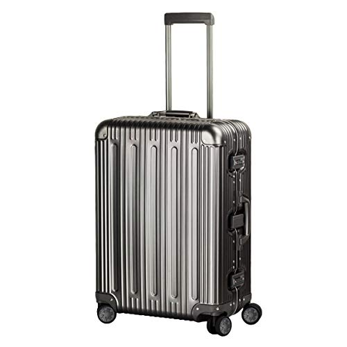 Travelking All Aluminum Luggage Spinner Hard Shell Suitcase Lightweight Metal Suitcases (Grey, 28 Inch)