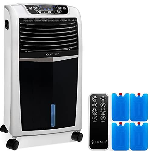 KESSER® 4in1 Mobile Klimaanlage | Fernbedienung | Klimagerät | Ventilator Klimaanlage | 8 L Wasser/Eis Tank | Timer | 3 Stufen | Ionisator Luftbefeuchter | Luftkühler | Weiß