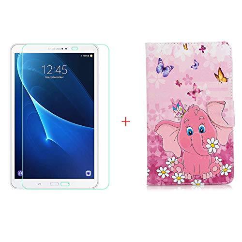 szjckj Protector de Pantalla + PU Carcasa para Samsung Galaxy Tab A6...