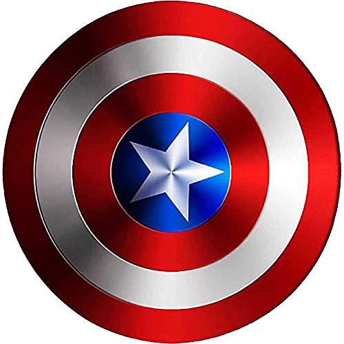SKINGO Escudo Capitan America Metal 1: 1 Avengers Movie Edition Handheld Prop Modelo NiñOs Adultos Accesorios De Cosplay Disfraz SuperhéRoe Escudo