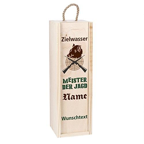 Cera & Toys® Flaschenverpackung Geschenk für Jäger - Zielwasser - mit Namen und Wunschtext