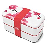monbento - MB Original Blossom bento Box - 2 Tier Leakproof Lunch Box for Work/School Lunch Packing and Meal prep - BPA Free - Food Grade Safe Food containers
