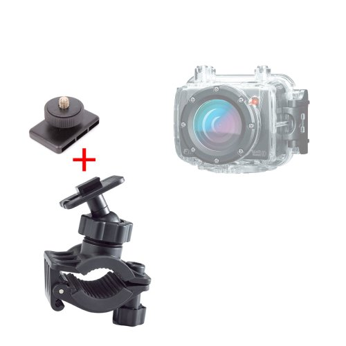 DURAGADGET Support/Fixation vélo et Bicyclette pour caméra embarquée Fantec BeastVision HD Wi-FI (Outdoor, Motorsports, Surfen, Bike, Ski)