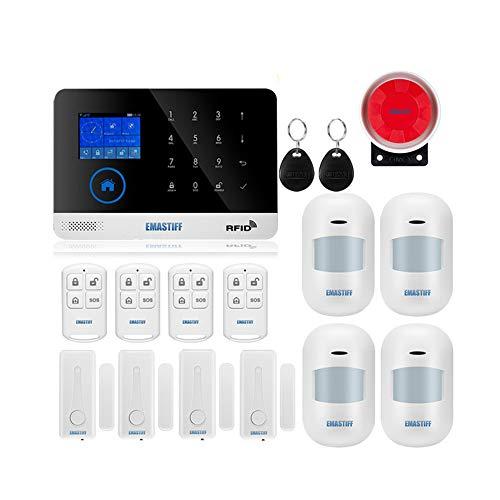 Hair Alarmsysteem, draadloos thuis- en zakelijk veiligheidsalarmsysteem, GSM wifi, smart beveiligingssysteem, doe-het-zelf-kits, ondersteuning auto-dial en app-remote control