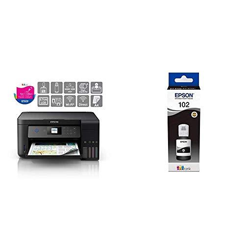 Epson EcoTank ET-2750 A4 Print/Scan/Copy Wi-Fi Printer, Black & EcoTank 102...