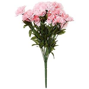 FOUR WALLS Fourwalls Artificial Carnation Bunch (14 Flower Heads, Set of 1, Light Pink)