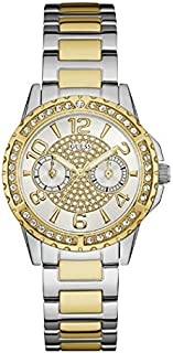 Guess Dress Watch Womens Chronograph Fashion Watch, Analog and Stainless Steel - W0705L4