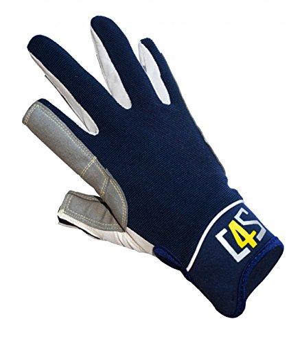 crazy4sailing Damen Herren Segelhandschuhe Offshore - 2 Finger-frei, Farbe:Navyblau, Größe:M