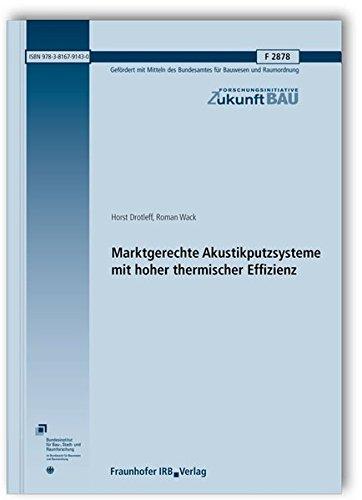 Marktgerechte Akustikputzsysteme mit hoher thermischer Effizienz. Abschlussbericht. (Forschungsinitiative Zukunft Bau)