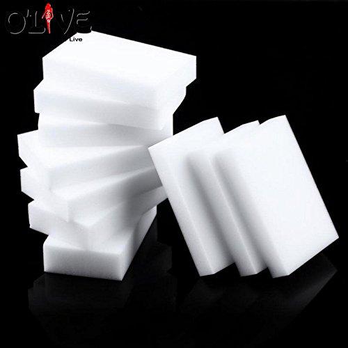 Generic 10PCS Weiß Magic Schwamm Radiergummi Melamin Reinigungsschwamm Auto-Mikrofaser Küche Schwamm für Waschen Magic Foam-Reiniger