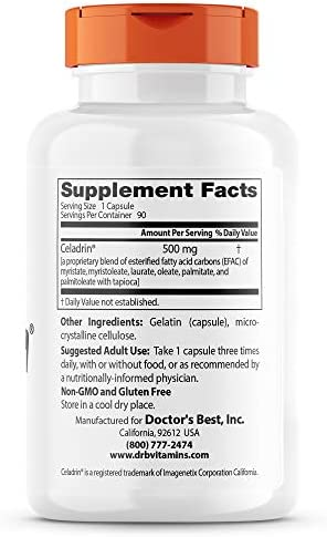 Celadrin Extract Forte 500 mg, 60 capsule, Good Days Therapy