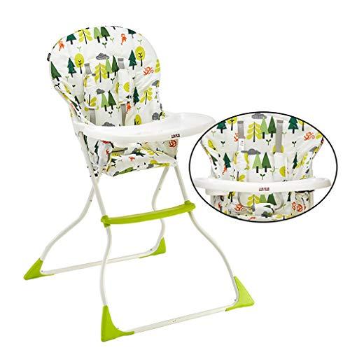 Chaise Haute - Chaise et Table pour Tout-Petit siège Haut pour Plateau de Nourriture pour bébé, Chaise Haute pour bébé Portable en Cuir Souple Meubles de Chambre de bébé pour bébé siège de Pliage AV