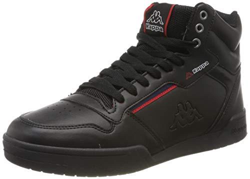 Kappa Unisex-Erwachsene Mangan Sneaker, Schwarz Black 242764 1120, 39 EU