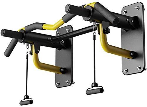 Barras de dominadas para montar en la pared, barra horizontal de acero, bolsa de arena, plegable, parte superior del cuerpo, barra de ejercicio, cinturón de resistencia, equipo de suspensión