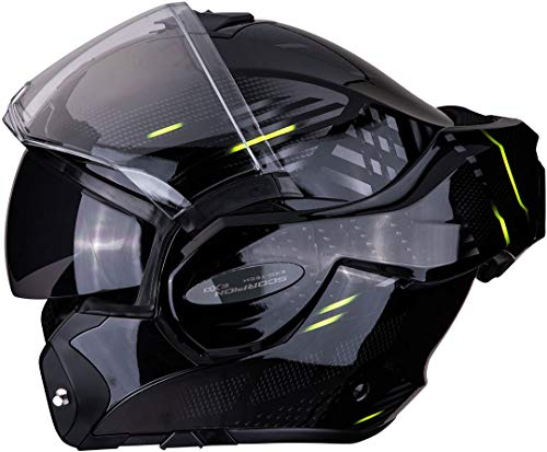 Scorpion Motorradhelm EXO-TECH PULSE Red, Schwarz/Rot, M, 18-091-01-04
