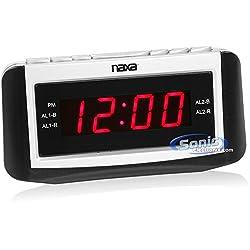 Naxa Naxa Pll Digital Alarm Clock With Am/fm Radio, Snooze & Large Led Display