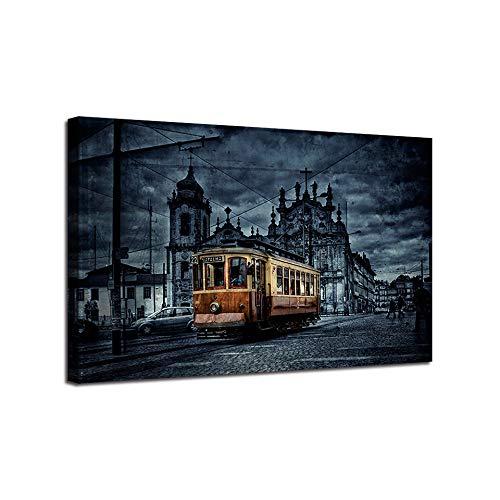 SKYROPNG Leinwand Bild,Zusammenfassung London Bus Moderne Wandkunst Wand Vlies Pop Poster Modular Personalized Artwork Bild Home Office Wände Kultur Tintenraum, 30 cm X 40 cm / 11,8 * 15,7 Zoll