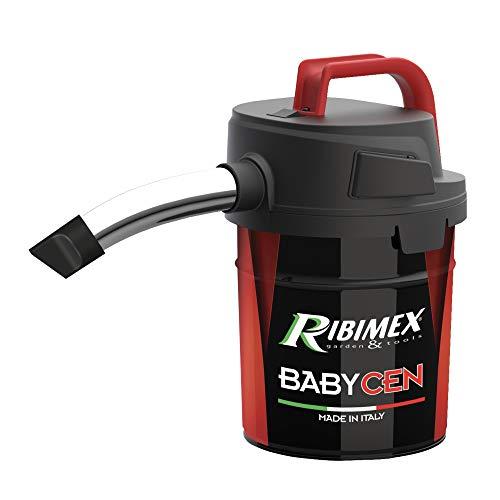 RIBIMEX PRCEN018, elektrischer Aschesauger, Metall, Aspiracenere Elettrico Babycen Aspirazione Potent, 4 L