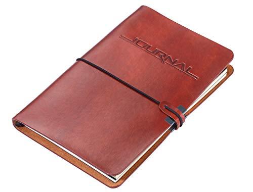 TROIKA BULLET JOURNAL – BTJ36/BR – 2 Notizbücher DIN A5 im Kunstledereinband – Tagebuch – pro Notizbuch: 36 perforierte Seiten, FSC zertifiziertes Papier, Punktraster – nachfüllbar – TROIKA-Original