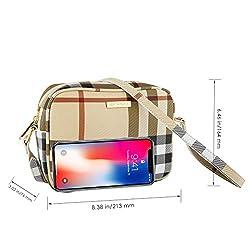SEPT MIRACLE WomenGirls Cross body Bags Shoulder Bag Travel Purse Lightweight Classic ModernPU Leather Bag (Plaid)