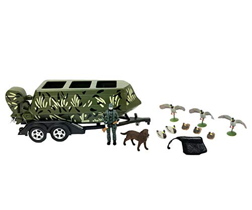 Big Country Toys Duck Hunting Set - 1:20 Scale - Duck Hunting - Toy Set - 18 Piece Toy Set - Plastic