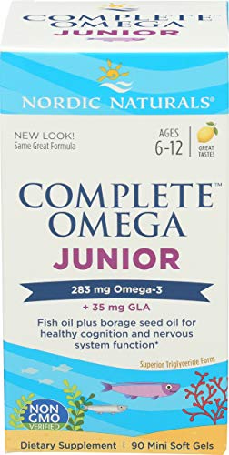 Nordic Naturals - Complete Omega Junior, Promotes Brain, Bone, and Nervous and Immune System Health, 90 Soft Gels
