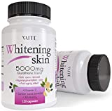 Glutathione Whitening Pills - Dark Spots & Acne Scar Remover - 5000 - Made in USA - Vegan Skin Bleaching Pills with Anti-Aging & Antioxidant Effect - 120 Capsules