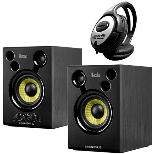 Hercules DJ Monitor 42 Monitor Boxen + Keepdrum hoofdtelefoon