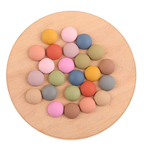 DAXINYANG Colorful Linght 18 * 18 mm 200pcs Beads acrílicos/Accesorios de joyería/Efecto Mate/Forma Redonda/Hecho a Mano/Hallazgos/Pendientes de DIY (Color : Random Mix)
