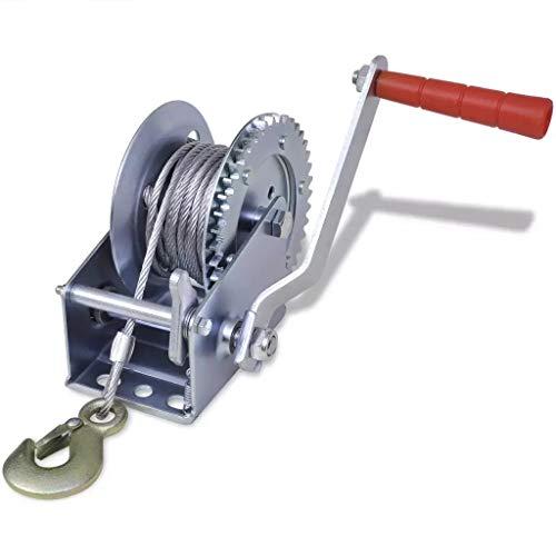 Cabrestante manual,Cabrestante manual de 1200 lb, cabrestante manual para remolque de vehículos pesados para camionetas con cable de 10 m
