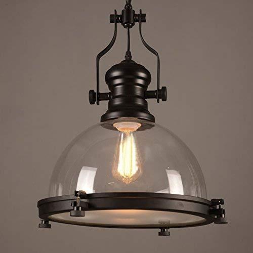 Lámpara de techo industrial de cristal transparente nautista, lámpara de techo de 40 W máx.