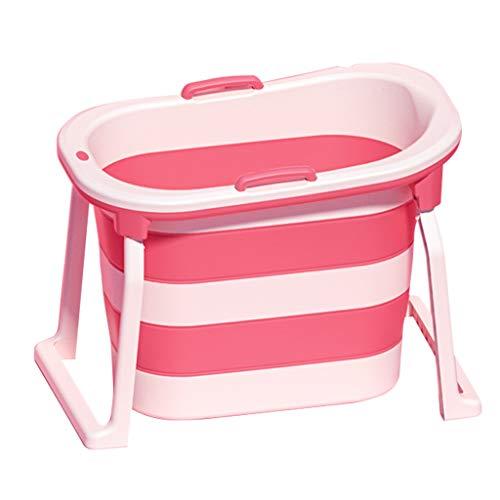 Bañera Plegable para Adultos, Bañera para Niños, Piscina Plegable Portátil para Niños, Bañera Bebe Adaptable Bañera 103x65x76cm - Púrpura/Verde/Rosa