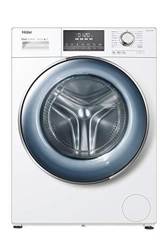 Haier HW80-B14876N Waschmaschine / 8 kg / Besonders leise / Direct Motion Motor / XL-Trommel / Dampf-Funktion / Vollwasserschutz / ABT / Eco 40-60 Programm