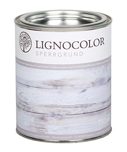 Lignocolor Sperrgrund (Transparent, 750 ml) auf Wasserbasis Isoliergrund Kreidefarbe 750 ml