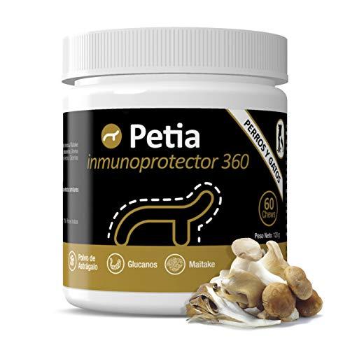 petia Vet health Inmunoprotector 360º Potenciador del Sistema Inmune para Perros y Gatos - 60 Chews