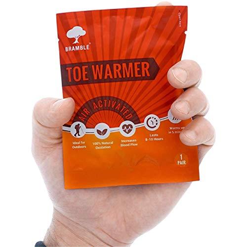 BRAMBLE! 12 Pares Premium Calentadores de Pies - Toe Warmers Adhesivos | 8-10 Horas de Calor Calmante | Calor Instantáneo, Ambientalmente Seguro, Activado por Aire - Oxidación 100% Natural