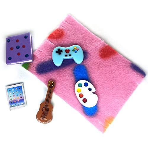 Littlest Pet Shop Accessories LPS Craft Sets Random Gift Bag Lots; Pets NOT Included (Play & Study 6pc.)