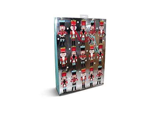 Set van 12 luxe extra grote notenkraker kerstcadeaumand met cadeaubonnen