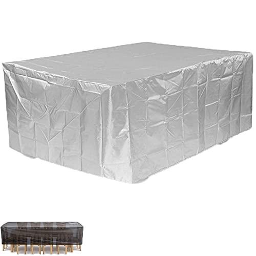 HMCUIQI Cubierta cuadrada impermeable para muebles de patio, 238,8 x 238,8 x 25,4 cm, para mesa de patio, cubierta de mesa cuadrada, protección contra el polvo, al aire libre, para todo tipo de clima