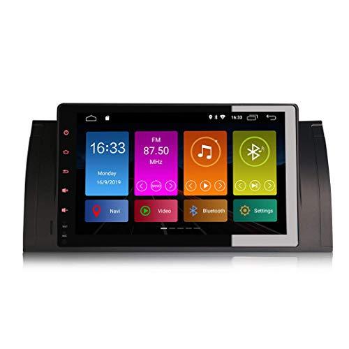 JIBO 9' Android 10.0 Carro Estéreo GPS Navegación Multimedia Jugador Teléfono Control WiFi 4G Separar Pantalla Carro Cabeza Unidad por B M W Serie 5 E39 E53 M5 X5 Video Receptor