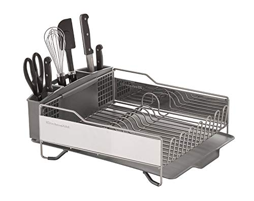 KitchenAid KNS896BXGRA Full Size Dish Rack, Light Grey