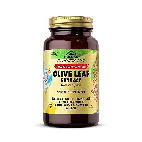 Solgar Olive Leaf Extract, 180 Vegetable Capsules -...
