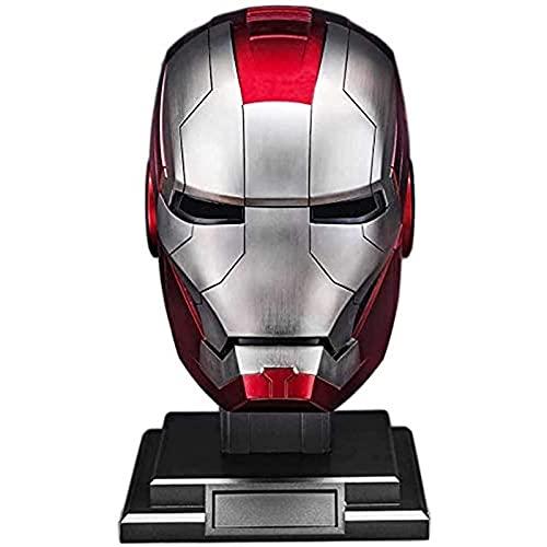 WXHJM Casco Iron Man,Vengadores Película Role-Playing Los Trajes de Halloween 1: 1 MK5 Casco Máscara de La Cara Llena Eléctrico Cascos,Metallic,One Size